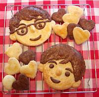 ママと親子クッキング 「パパの似顔絵クッキー作り」